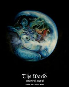 The World from the Maat Tarot (by Julie Cuccia-Watts).