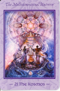 The Kosmos (XXI) from the Tarot of Transformation.
