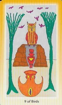 Shining Tribe Tarot 9 of Swords Birds